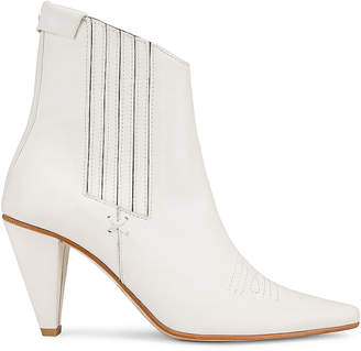 Reike Nen Pointed Chelsea Slim Boots in White | FWRD