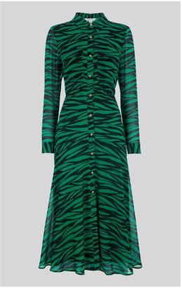 Whistles Carys Tiger Print Shirt Dress