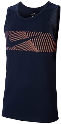 Nike Big Tall Dri-FITtm Cotton Tank Linear Vision (Black) Men's Clothing