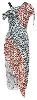 Jason Wu Asymmetric Printed Satin-crepe Midi Dress