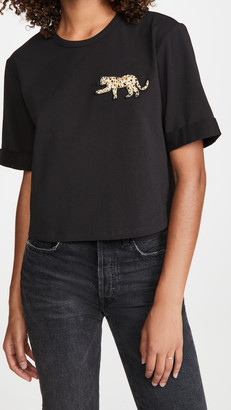 Veronica Beard Jeans Abby Tee With Sequin Patch