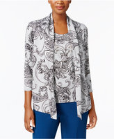Alfred Dunner Layered-Look Necklace Top