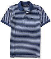 Brooks Brothers Oxford Horizontal-Stripe Short-Sleeve Polo Shirt