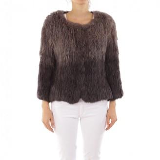 Yves Salomon Brown Fur Jacket for Women