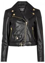 Moschino Black Cropped Leather Jacket