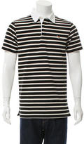 MAISON KITSUNÉ Striped Fox Patch Polo Shirt w/ Tags