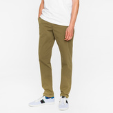 Paul Smith Men's Tapered-Fit Khaki Garment-Dyed Pima-Cotton Stretch Chinos