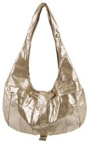 Fendi Metallic Suede Hobo