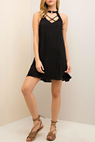 Entro Black Sleeveless Shift Dress
