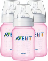 Avent Naturally Bottle - Pink - 9 oz - 3 ct