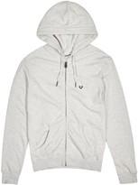 True Religion Grey Hooded Cotton Sweatshirt