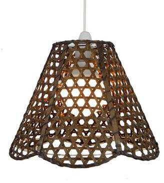 Lighting Web Company Scalloped French Cane Pyramid Shade, Brown