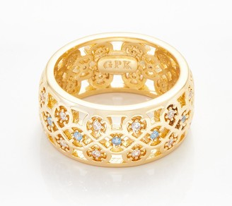 Scandinavian Grace Kelly Collection Goldtone Wedding Ring