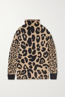 Stella McCartney Leopard-intarsia Knitted Sweater