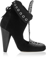 Isabel Marant Mossa studded cutout suede ankle boots