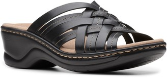 Clarks Collection Leather Slip-on Sandals - Lexi Selina