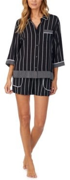 DKNY Striped Shorts Pajama Set