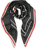 Givenchy Bambi Print Black Silk Square Scarf
