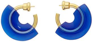 Panconesi Blue Mini Resin Hoop Earrings