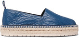 Balenciaga Creased-Leather Espadrilles