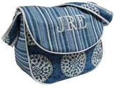 Hoohobbers Messenger Diaper Bag, Blue Medallion
