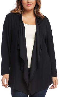 Karen Kane Plus Size Drape-Front Toggle-Closure Cardigan