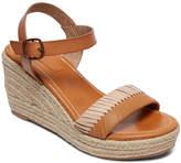 Roxy Women's Sandals TAN/BROWN - Tan & Brown Ankle-Strap Gabrielle Espadrille Wedge Sandal - Women