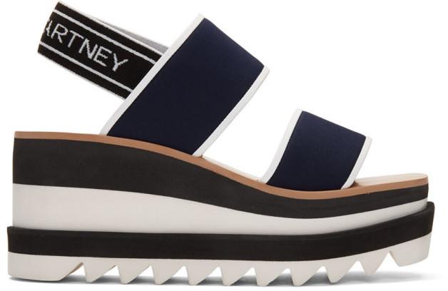 black platform sporty sandals