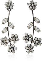 Jennifer Behr Violet Gunmetal-Plated Swarovski Crystal Earrings