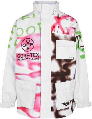 Off-White Off White Graffiti-print Gore-Tex Jacket