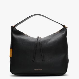 Smaak Kaylee Pebbled Black Leather Hobo Bag