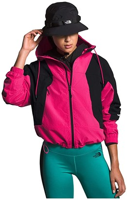 The North Face Peril Wind Jacket (Mr. Pink/TNF Black) Women's Clothing