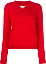 Maison Margiela knitted V-neck jumper - women - Cotton - XS
