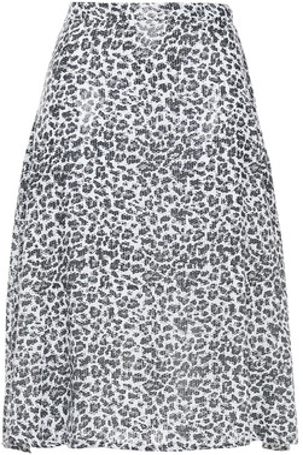 Olivia Rubin Jeanie Sequin-embellished Leopard-print Georgette Skirt