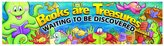 Paper Magic 849730 Eureka Classroom Banner, Books Are Treasures Waiting to be Discovered, 12 x 45-Inches