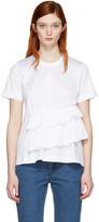 Marques Almeida White Gathered T-Shirt