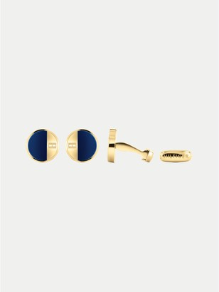 Tommy Hilfiger Gold-Plated Circle Cufflinks