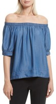 Kate Spade Women's Off The Shoulder Chambray Top