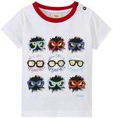 Fendi Monster Fur Bug Crewneck T-shirt (Baby) - White - 24 Months