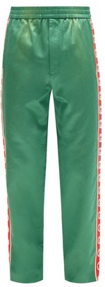 Gucci GG Side-stripe Cotton-blend Track Pants - Green