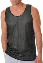 Badger B8529 BD Reversible Mesh Tank - Black/Silver - 2XL