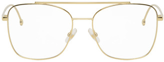 Fendi Gold Aviator Glasses