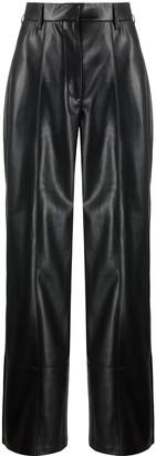 Nanushka Cleo high-rise wide leg trousers