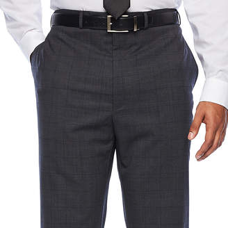 Claiborne Big and Tall Windowpane Classic Fit Stretch Suit Pants