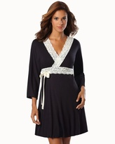 Soma Intimates Belabumbum Nursing Robe With Contrast Lace Black Pearl