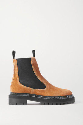 Proenza Schouler Suede Ankle Boots - Tan