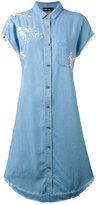 The Kooples embroidered denim shirt dress - women - Lyocell/Polyester - 0