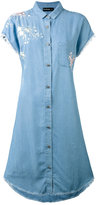 The Kooples embroidered denim shirt dress - women - Polyester/Lyocell - 0