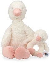 Jellycat Clucky Ducky Chime & Rattle, White