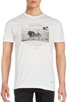 Kinetix Lion Print Cotton-Blend Tee